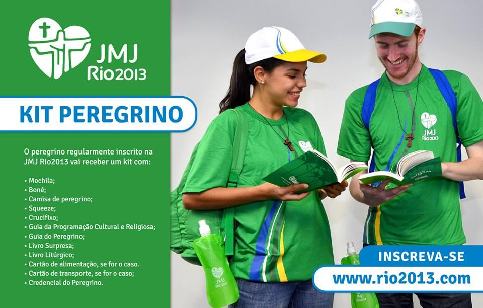 Kit del peregrino JMJ Rio 2013