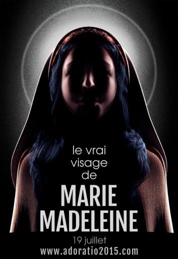 Cartaz do evento onde será revelado o rosto de Maria Madalena